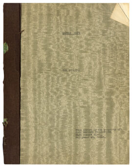 GUILTY, THE (1947) [under working title: THE GUILTY!] Master Copy film script
